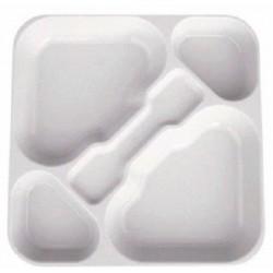 Bandeja policarbonato 5 compartimentos