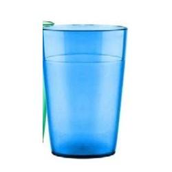 Vaso  policarbonato de 250 cc. AZUL