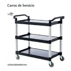 CARRO SERVICIO 3 ESTANTES