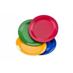 Plato llano policarbonatoazul 23 cm diametro
