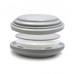 Tapa o base termica gris policarbonato