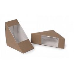 Envase triangular kraft p/50