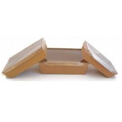 Ensaladera rectangular con tapa 700ml p/25